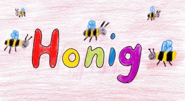 Das Bild zeigt unser Etikett für unseren Sommerhonig.